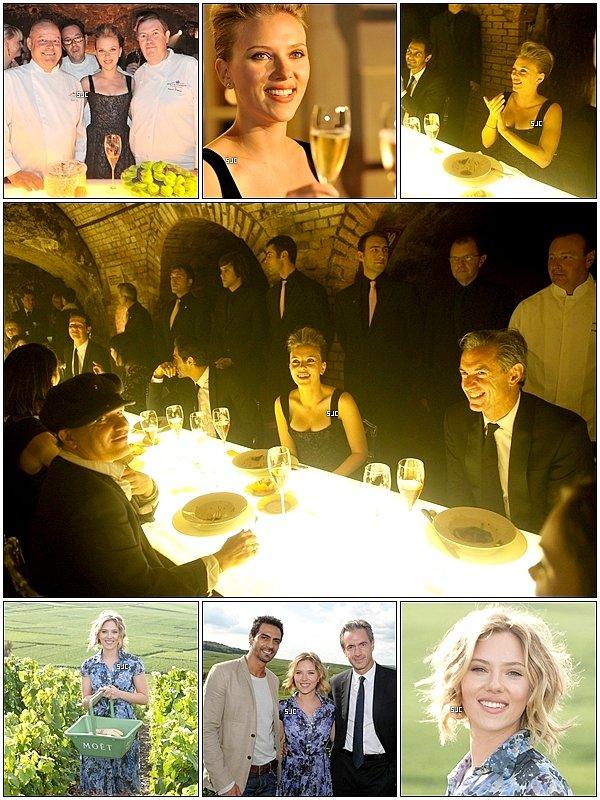 .14 septembre 2010....Scarlett Johansson aperçue à la célébration de Moet & Chandon. (Suite).