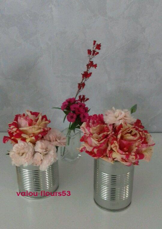 Mélange roses et oeillets
