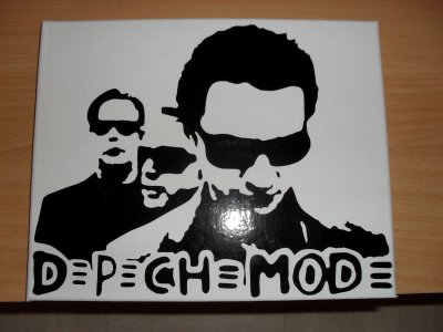 toile sticker depeche mode ou justin bieber 25euro