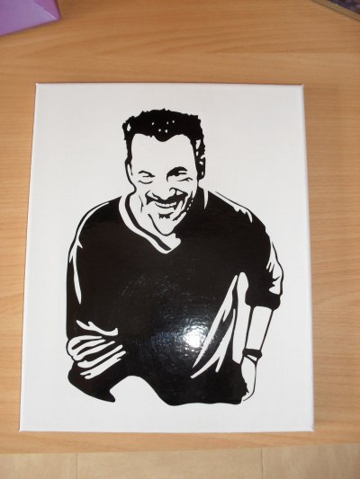 toile sticker mickey ou florent pagny 25euro