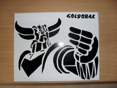 toile sticker goldorak ou mickael jackson 25euro