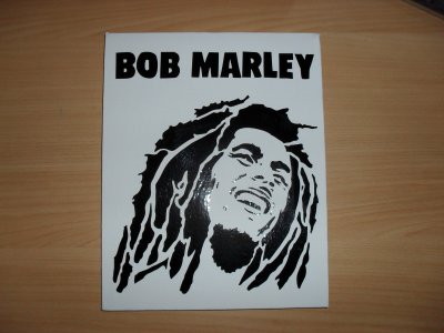 toile sticker bob marley ou nicola sirkis 25euro