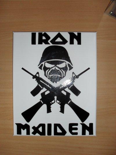 toile sticker iron maiden ou jonnhy halliday 25euro
