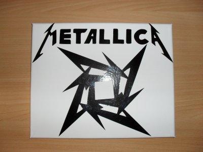 toile sticker metallica ou ac/dc 25euro