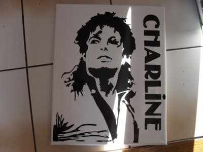 toile sticker mickael jackson ou x-or 25euro