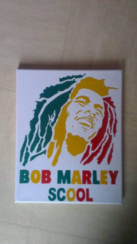 toile bob marley