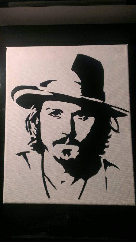 toile sticker johnny depp 25euro