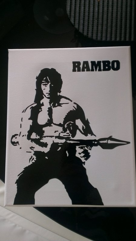 toile sticker rambo 25euro