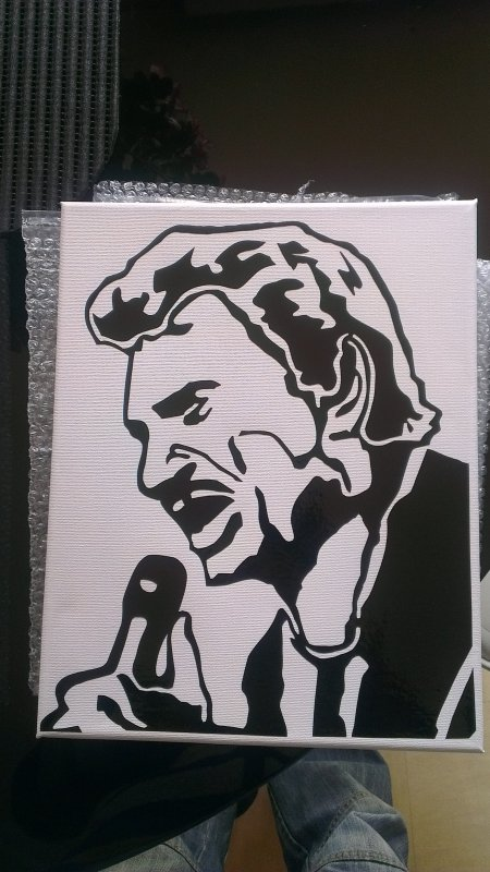 toile sticker johnny hallyday 25euro
