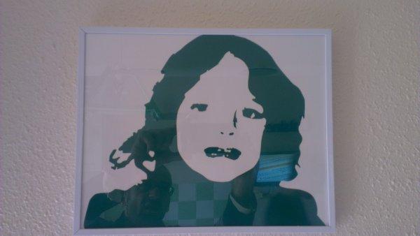 cadre sous verre sticker tirer de photo perso 35euro