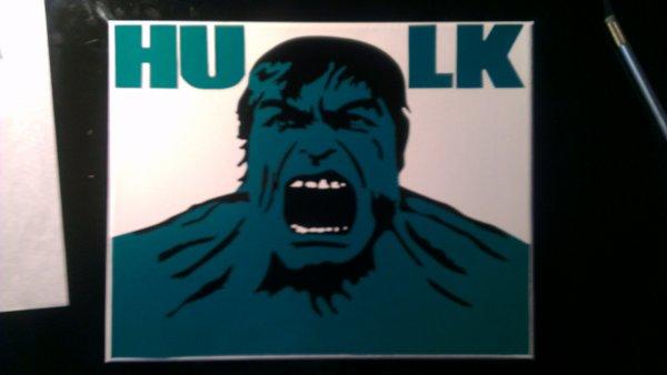 toile sticker hulk 25euro