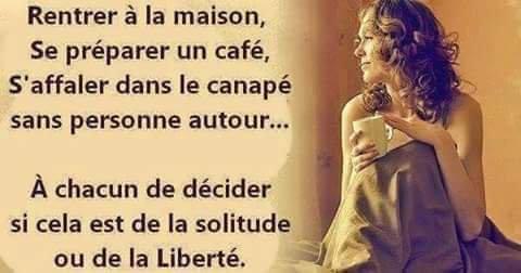 Solitude ou liberté