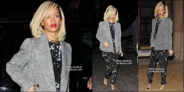 . 19 Mars 2012 : Rihanna Fenty a été aperçue hier soir au restaurant « Scarpetta » , tu la trouve comment ?   + Une nouvelle vidéo interview de Rihanna concernant son apparition dans le film « Battleship » .  .