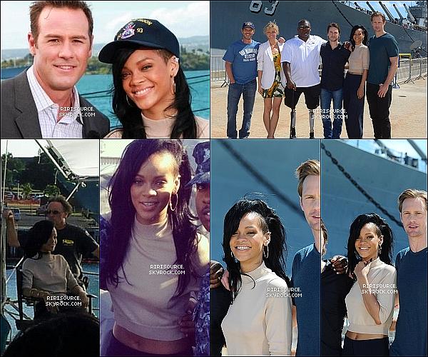 . 28 avril 2012 :  Rihanna fait l'avant première de « Battleship » à Hawaï , TOP ou FLOP ?   Moi j'aime moins donc c'est unBOF  pour la tenue de Rihanna. Son Make-up est magnifique , & toi t'en penses quoi? .