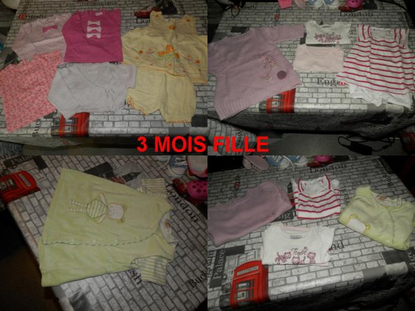 lot vêtements fille 3 mois