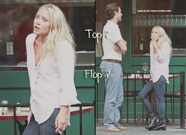 La belle Kate a été reperé fumant et buvant dehors du restaurant Sant Ambroeus à New York le 12 Juillet