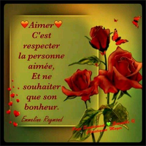 Aimer avec le coeur c'est respecter la personne. ...Aimer avec les yeux c'est des gigolos....