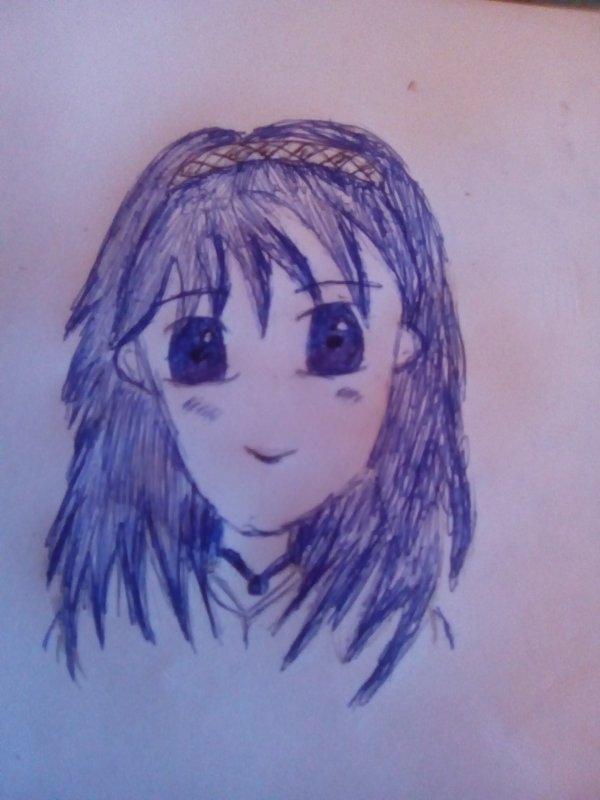 Mon premier dessin au stylo ( je le trouve pas terrible )