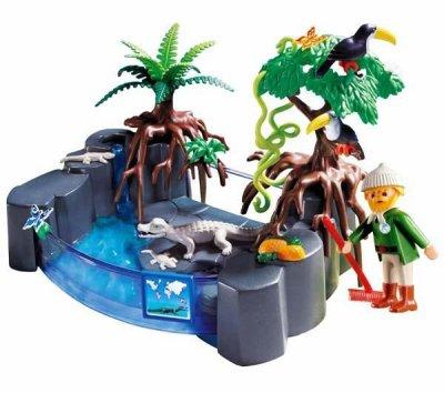 le bassin de caiman playmobil zoo.
