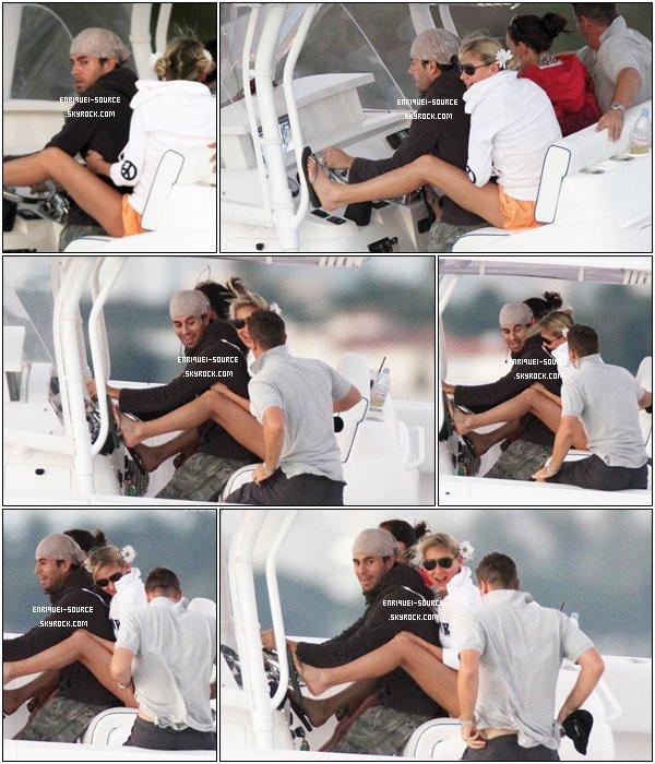 . 11/10/10 :  Enfin des news d'Enrique ! Il a été aperçu avec Anna et deux de ses amis sur un bâteau à Miami.   .
