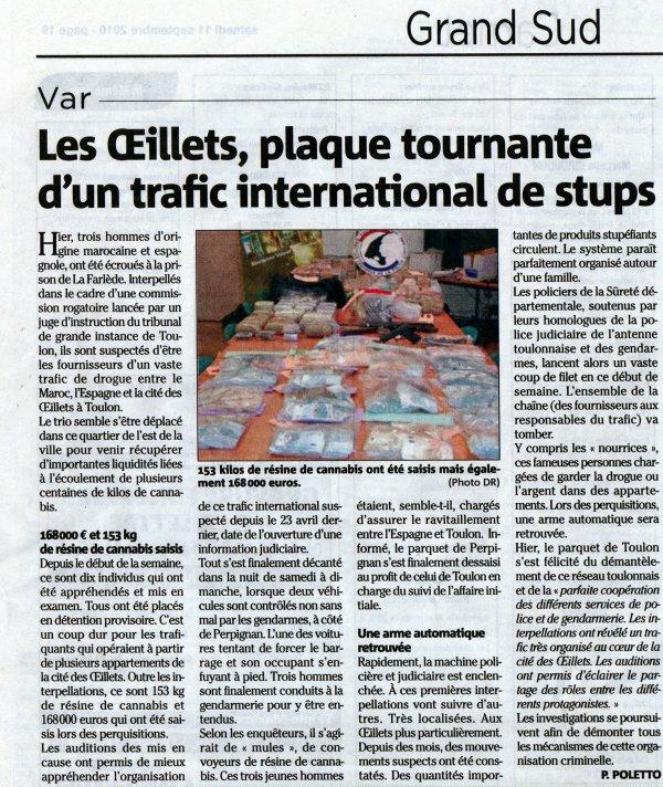 Trafic de stups: du Maroc à Toulon