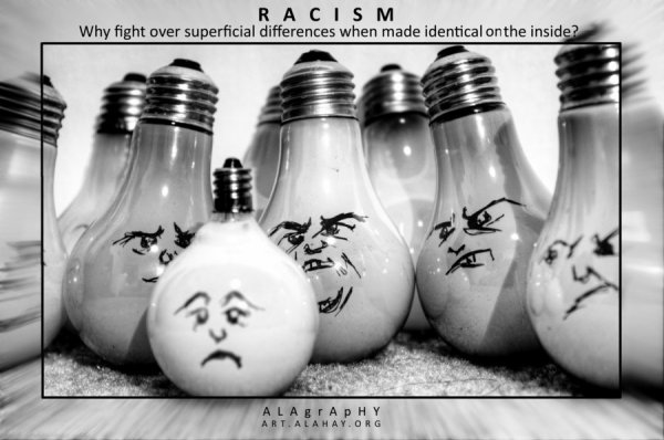 Black Or White ? Naaah Better Say Black And White ! Say No To Racism ♥