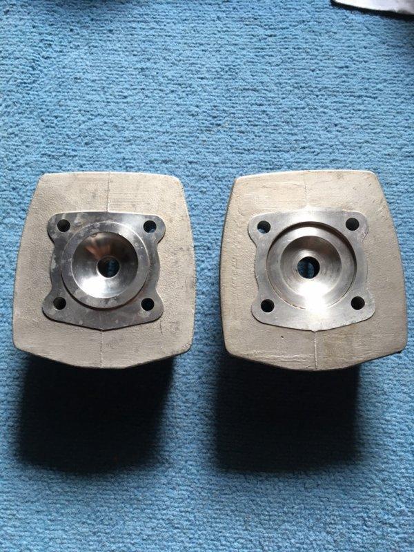 Culasses parmakit D50, 2 modèles differents au niveau du squish, quelqu'un a des infos?