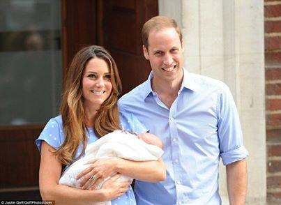 Le prince William et Kate Middleton avec leur Bébé :D