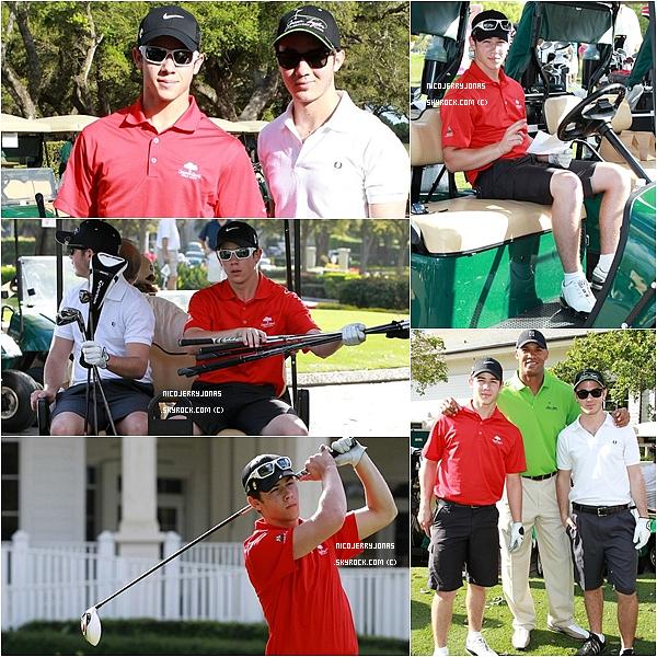 . 28 Février 2011 : Nick et Kevin ont participé à un tournoi de golf pour la fondation « Jason Taylor » en Floride..