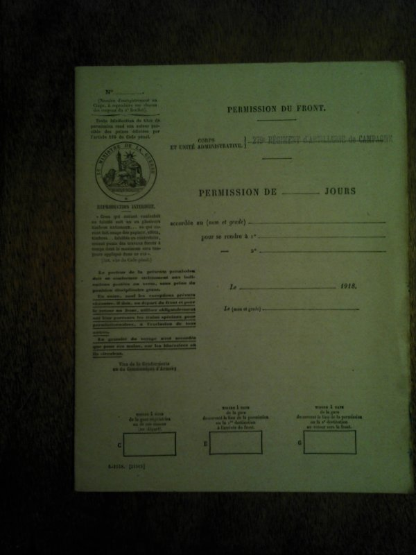 Divers documents 14/18.