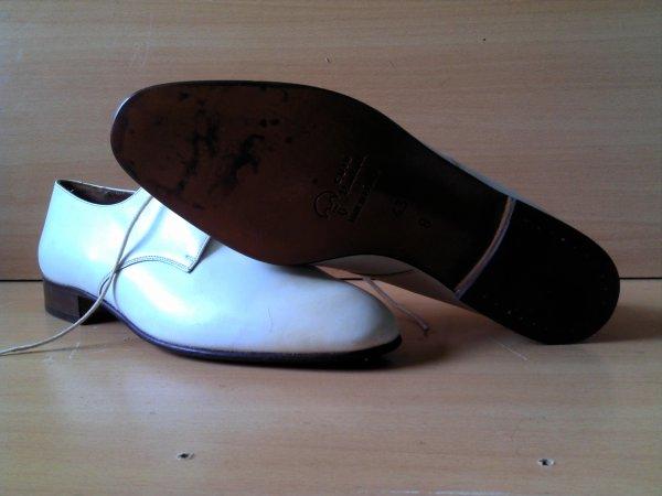 Chaussures de tenue blanche, marine nationale.