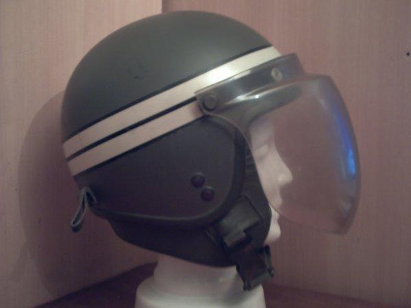 Casque de motocycliste.