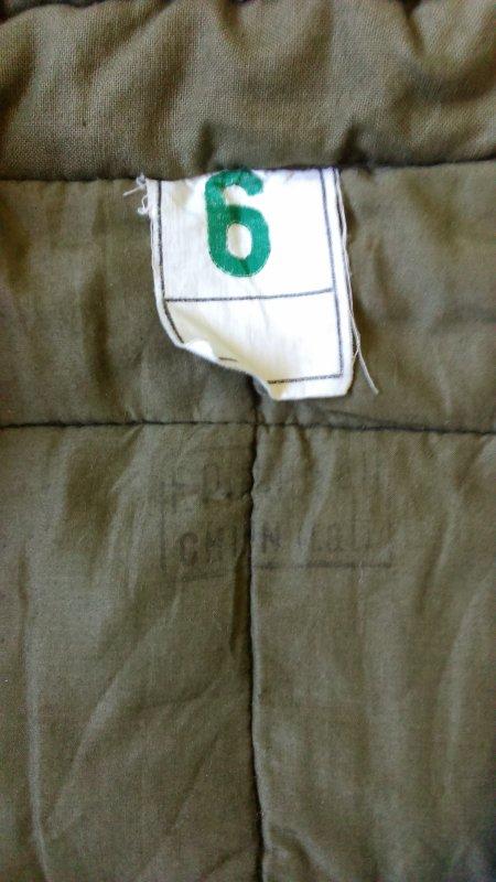 Sous-veste matelassée mle 50, 2éme type.