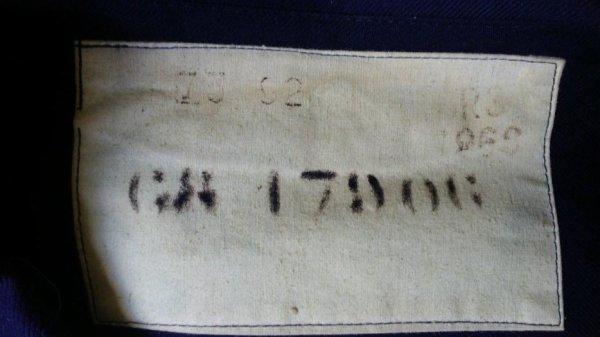 Vareuse drap bleu., Marine Nationale.