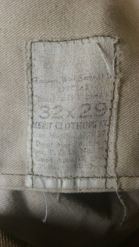 Trouser, wool, serge, O.D., light shade, spécial.