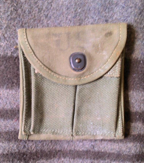 Pocket, magazine, double web, carbine, caliber .30, M1, O.D.