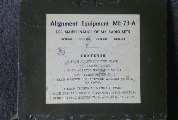 Alignment equipment ME-73-A.