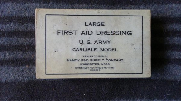 Large first-aid dressing, carisle model.