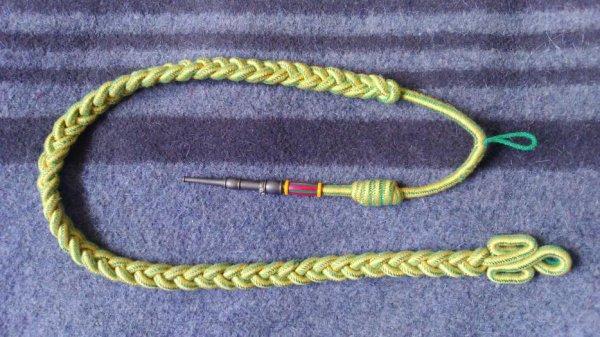 Fourragéres médaille militaire, ferret or.