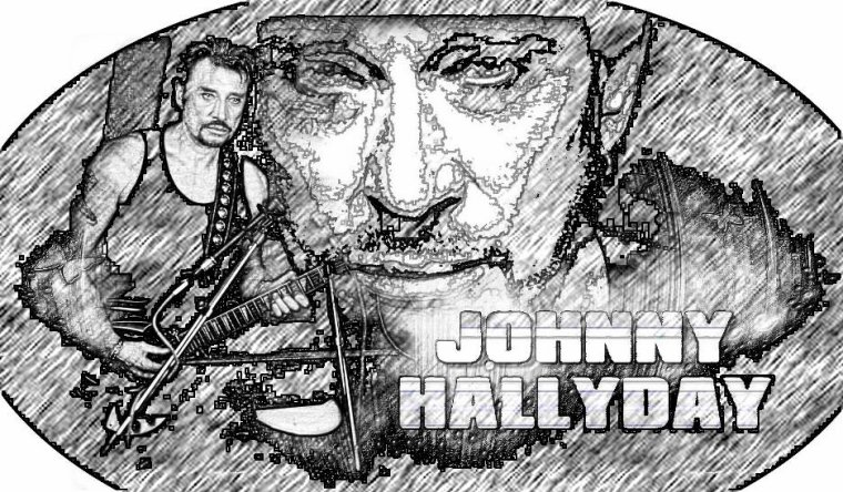 JOHNNY HALLYDAY_CARICATURE_