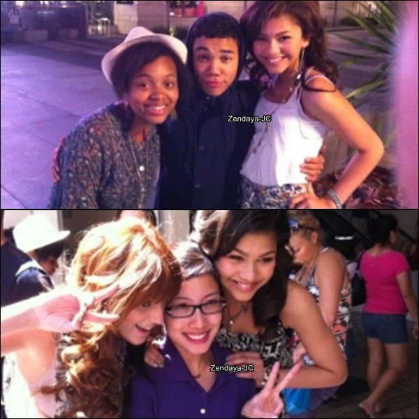 Vidéo + Une photo personnelle de Zendaya et Une photo Zendaya, Bella et un fan et aussi une photo de Zendaya en compagni de Roshon Fegan + Une photo du Dream Magazine