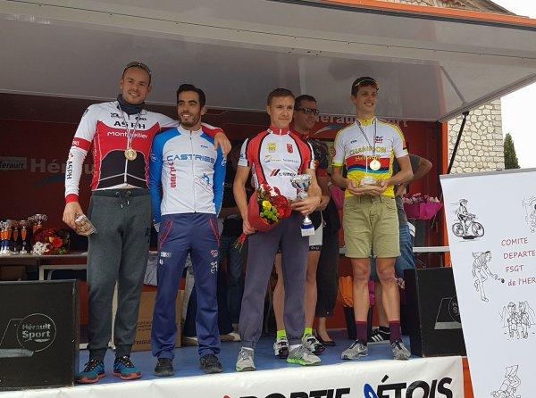 Champion et championne de l' Hérault clm 2017.