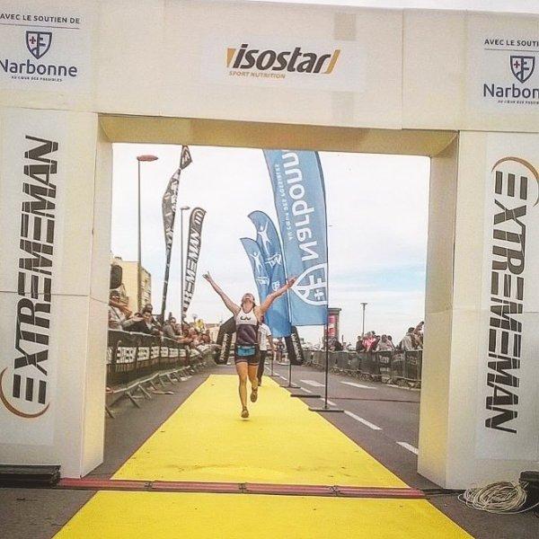 Victoire Emmanuelle Triathlon Half Narbonne.