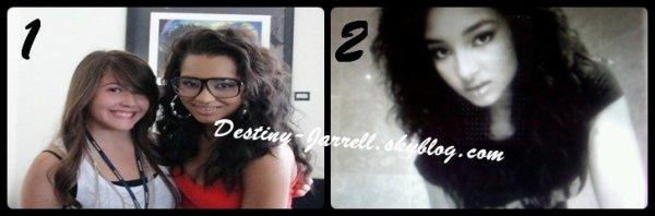 1 : photo datant du 20 juillet ( Sienna sa meilleure amie & Jessica). 2 : Photo twitter.