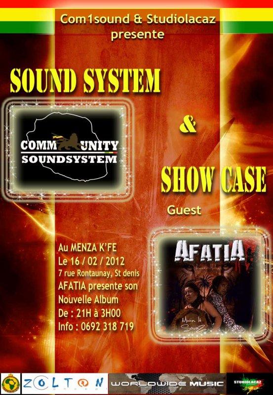 AFATIA EN SHOW CASE AU BAR LE MENZA K'FE A ST DENIS COMMUNITY SOUND SYSTEM PO FI DEM