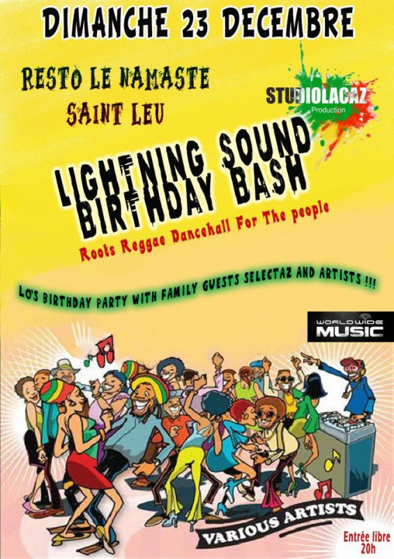 LIGHTNING SOUND SYSTEM BIRTHDAY BASH  PARTY