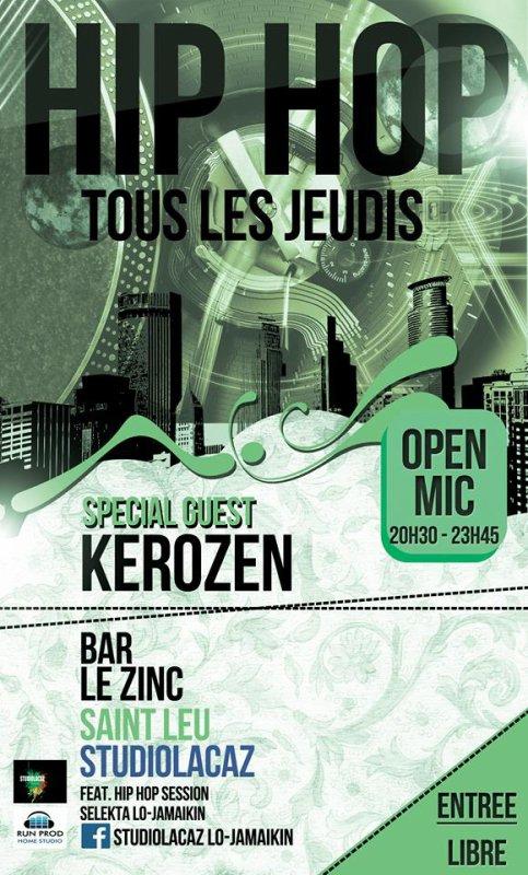 KEROZEN au Bar le ZINC à ST LEU ...HIP HOP STYLE