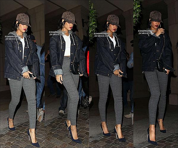 .26.10.2012 : Riri à été vue allant au studio aprés avoir diner dans un restaurant français à L.A.   .
