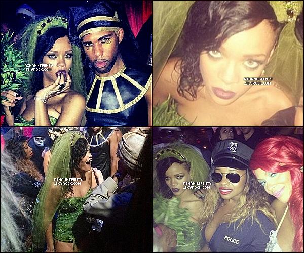 .31.10.2012 : Notre belle Rihanna à fêté Halloween au Greystone Mano SupperClub à L.A.    .