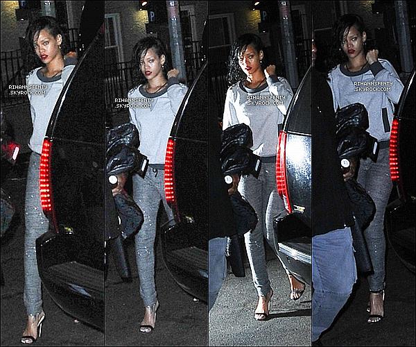 .06.11.2012 : Riri se rendant dans un studio pour répéter sa perfo' pour V's SFS à New York City.   .